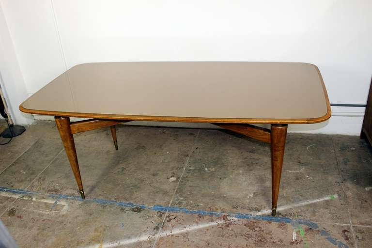 Italian dining room table in style of gio ponti at 1stdibs for Dining room tables los angeles