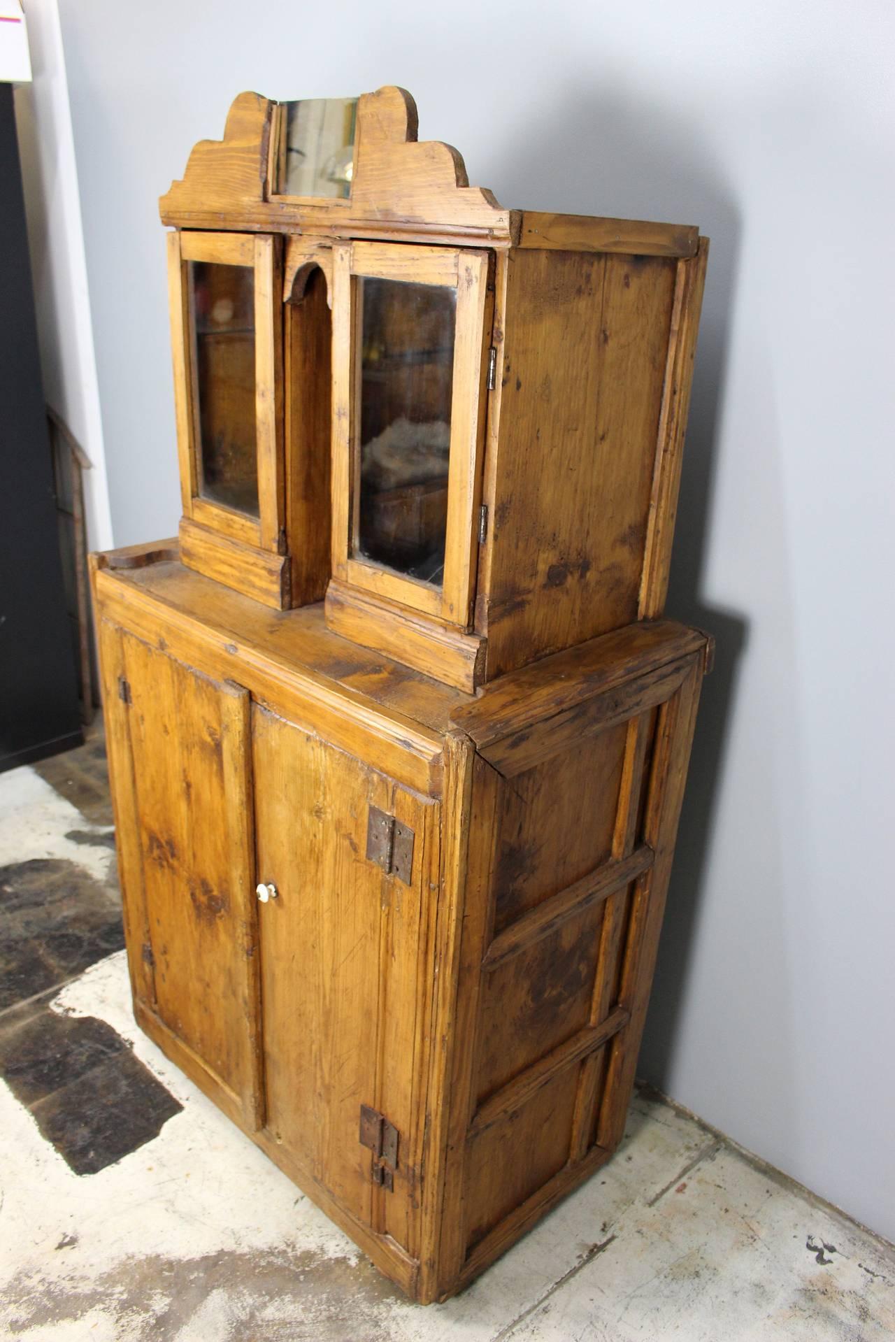 Late 19th century Italian cupboard .