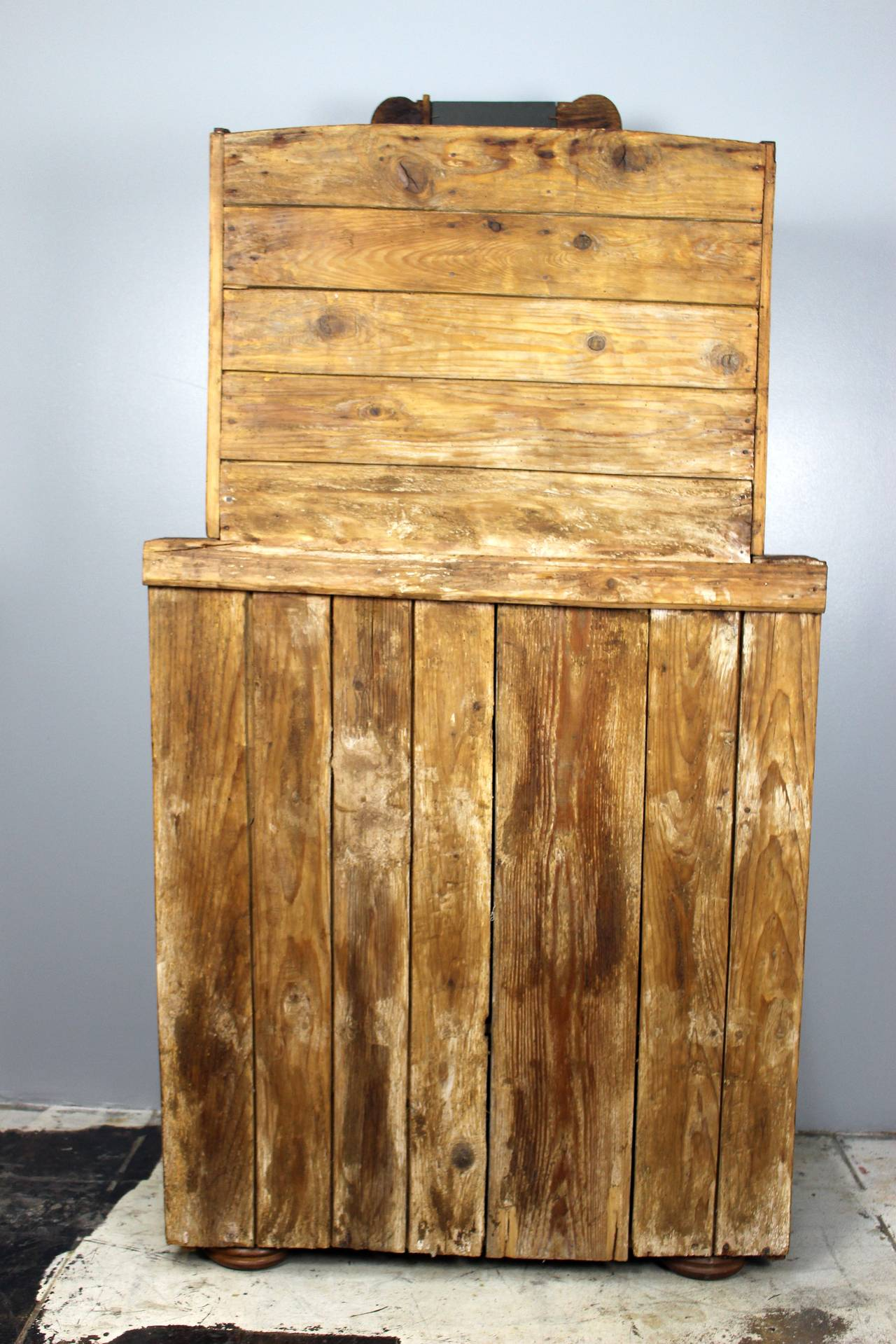 Antique Italian Cupboard In Distressed Condition For Sale In Los Angeles, CA