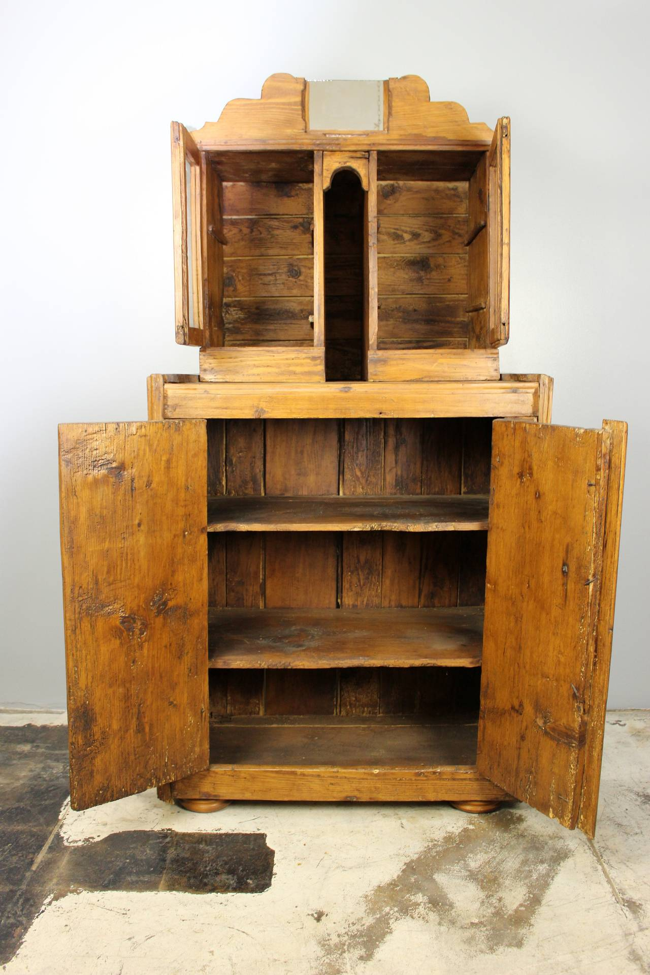 19th Century Antique Italian Cupboard For Sale