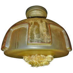 French Art Deco Flush Mount