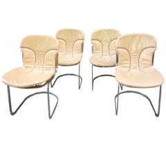 Italian Brass Chairs by Cidue Vicenca