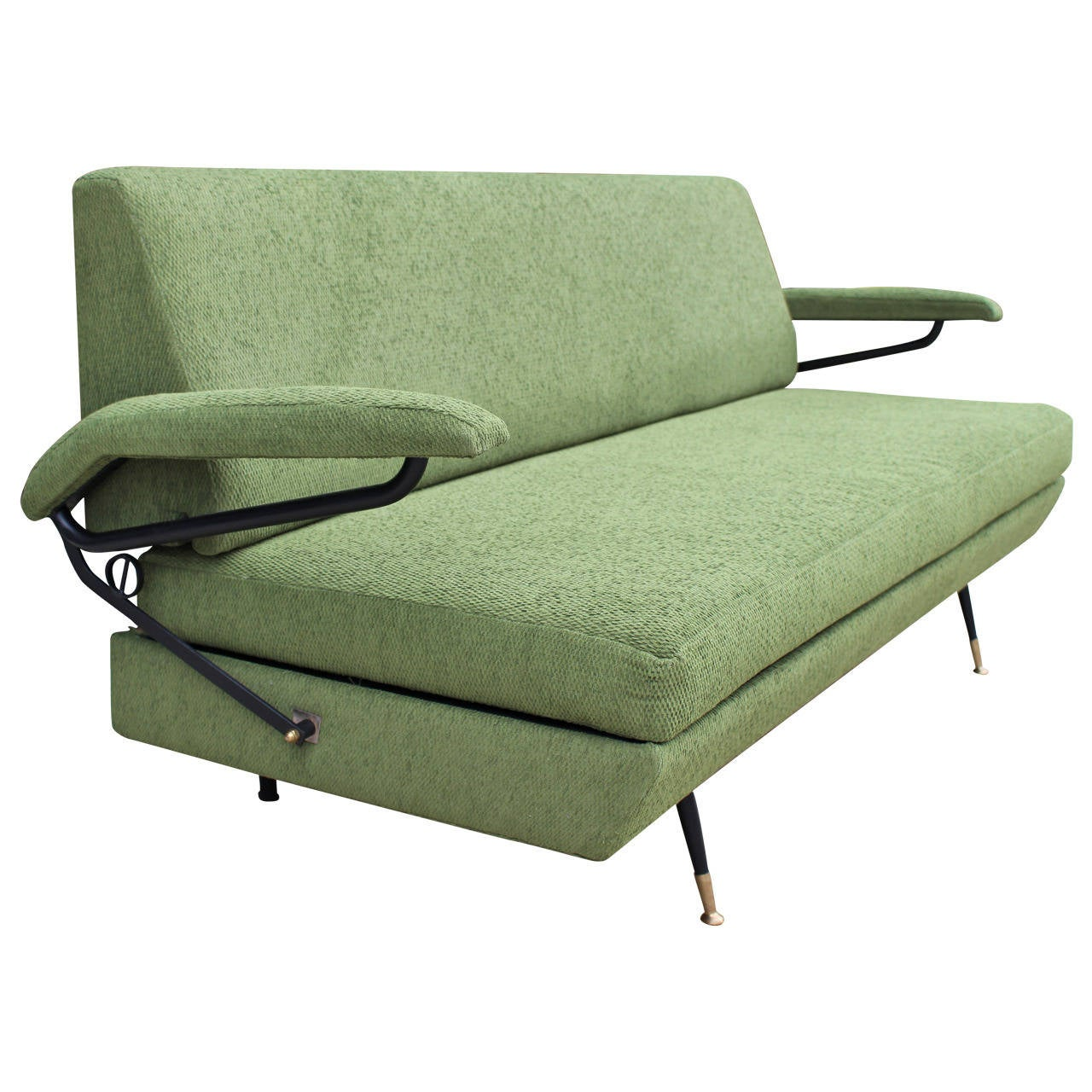 italian sofa in style of osvaldo borsani for sale at 1stdibs