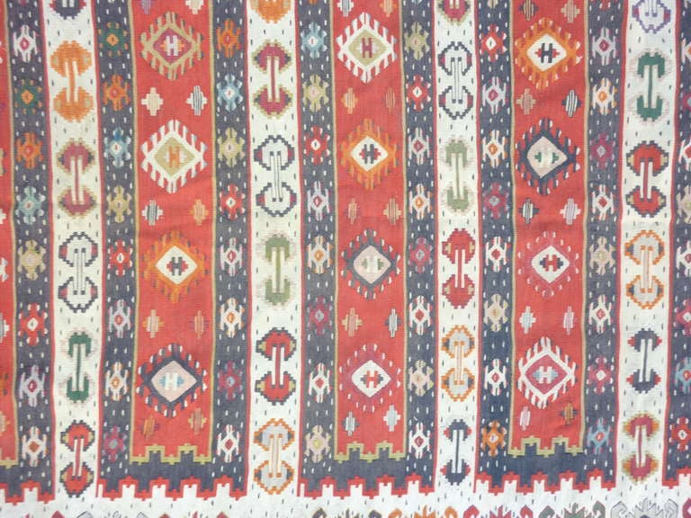 Turkish Balkan Antique Kilim For Sale