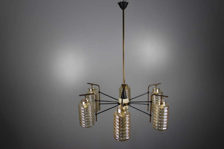 1950s chandelier in original condition.