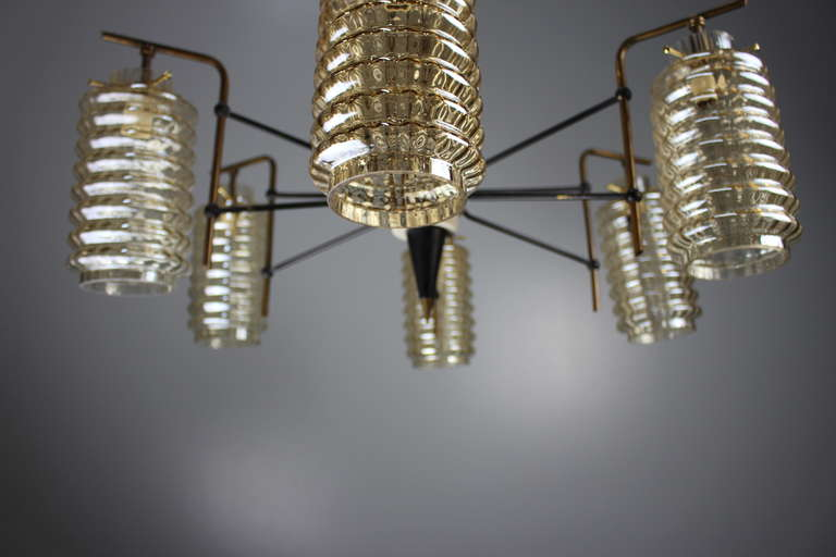 Metal Italian Chandelier For Sale