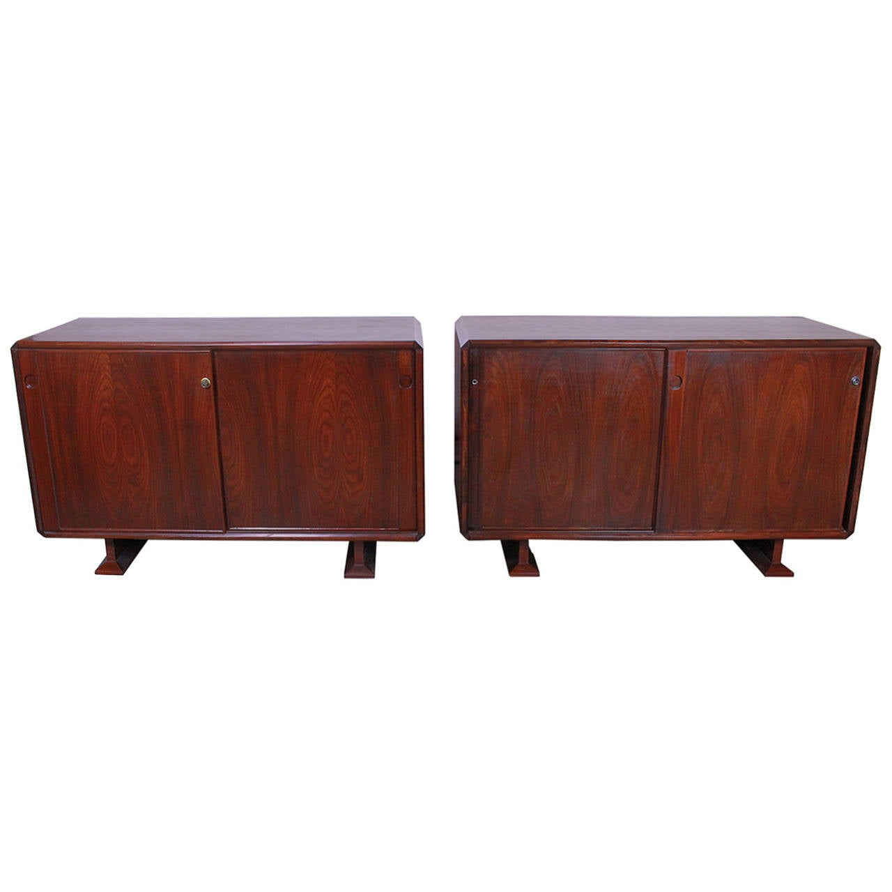 Italian Pair of Cabinets in Style of Franco Albini