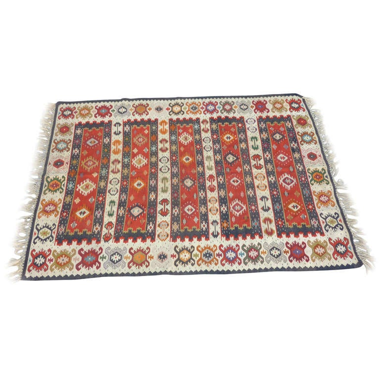 Balkan Antique Kilim For Sale