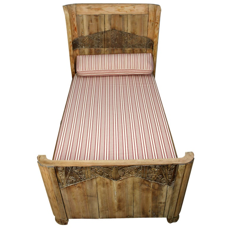 French Art Deco Kid's Bed For Sale