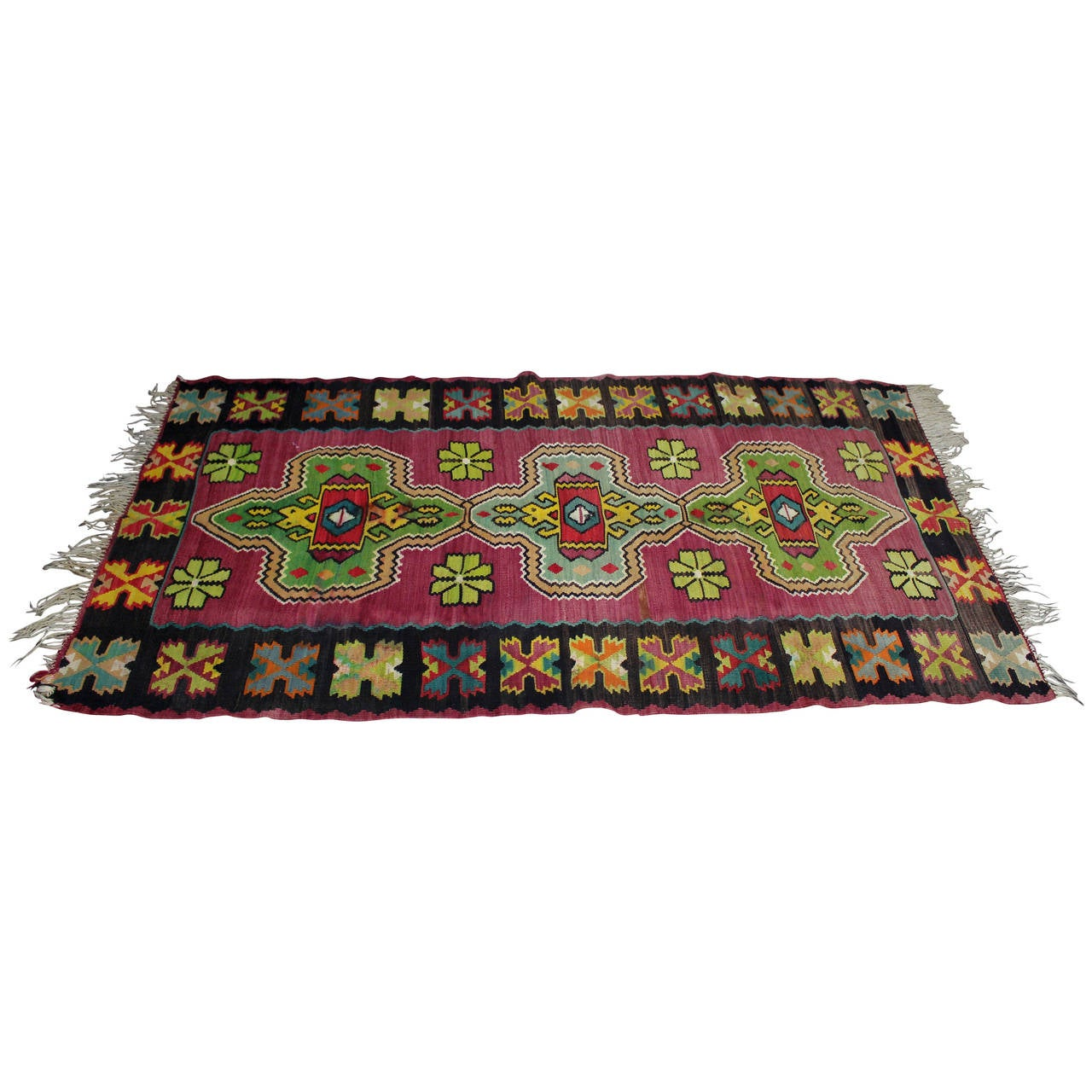 Antique Turkish Kilim from Bosnia For Sale