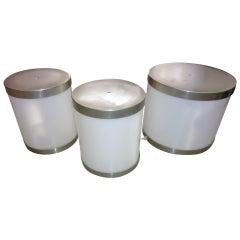 Italian set of three table lamps