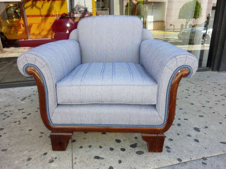 Hungarian Art Deco Club Chair For Sale