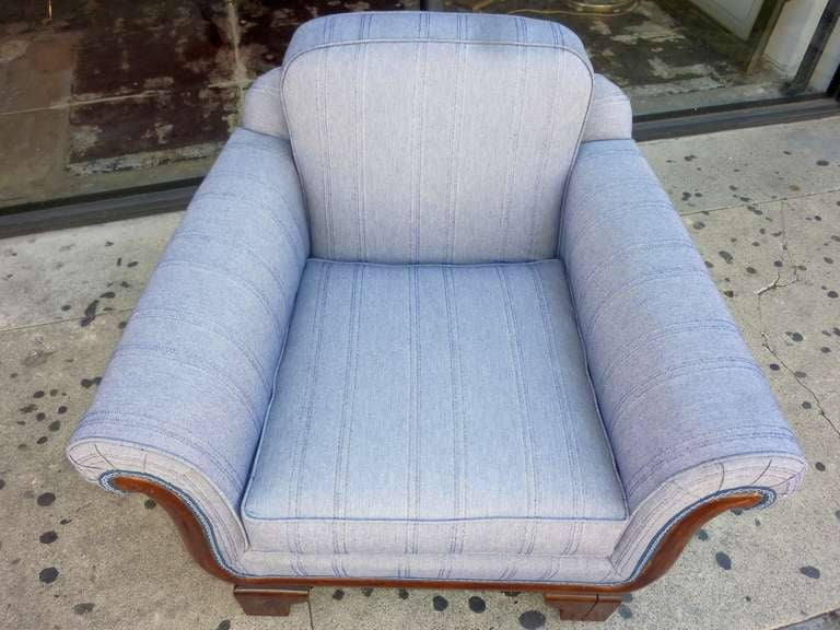 Art Deco Club Chair In Excellent Condition For Sale In Los Angeles, CA