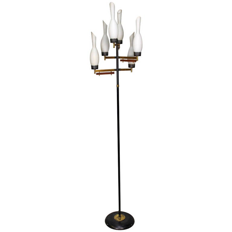 this 1950s italian floor lamp with six glass shade is no longer. Black Bedroom Furniture Sets. Home Design Ideas