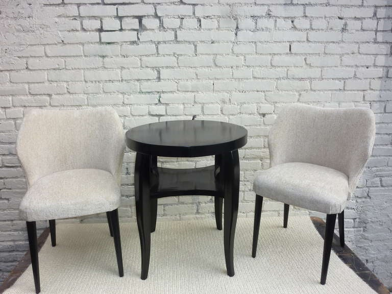 Mid-20th Century Italian Pair of Chairs by Cantoni Udine For Sale