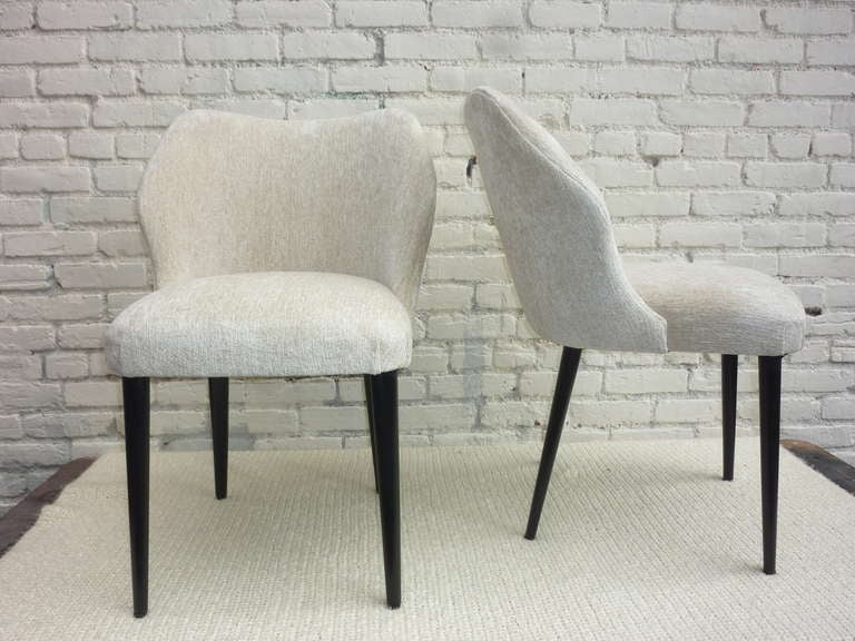 Italian Pair of Chairs by Cantoni Udine In Excellent Condition For Sale In Los Angeles, CA