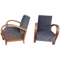 Austrian Art Deco Club Chairs