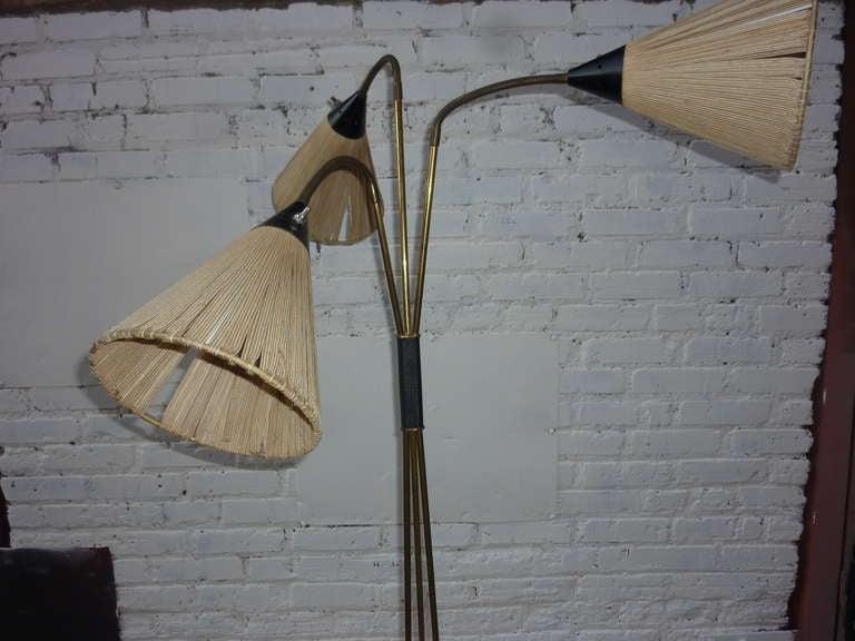 Italian Floor Lamp in the Style of Stilnovo For Sale