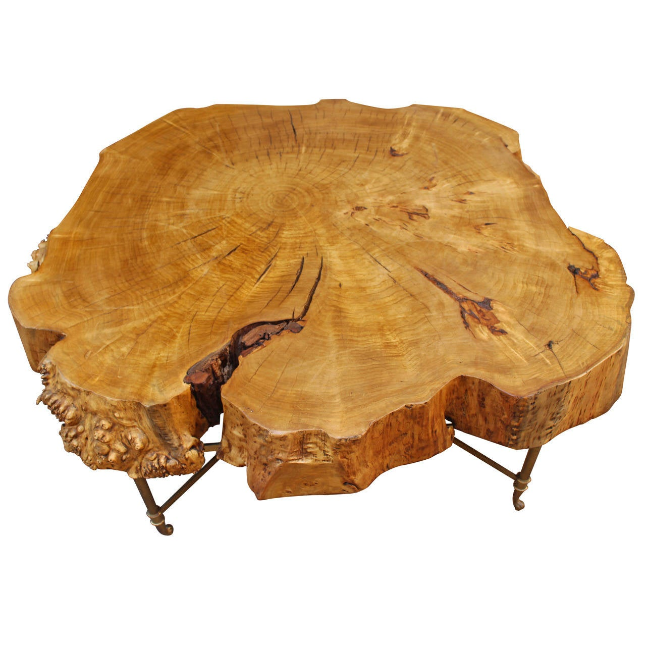 Italian coffee table by gimo fero at 1stdibs - Table basse bois brut ...
