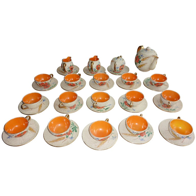 Italian Mid Century Tea And Coffee Set For 15 Persons For