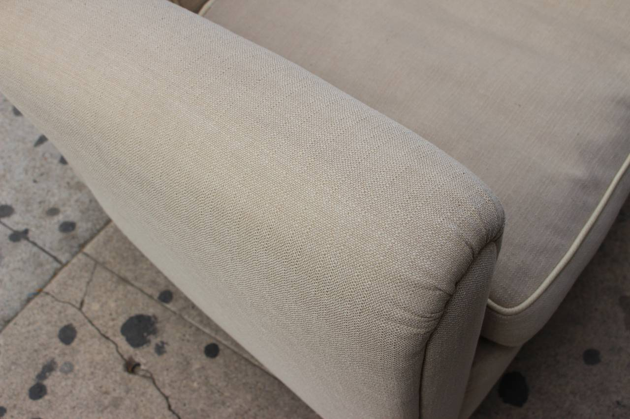 Down Pair of Italian Club Chairs in Style of Guglielmo Ulrich For Sale