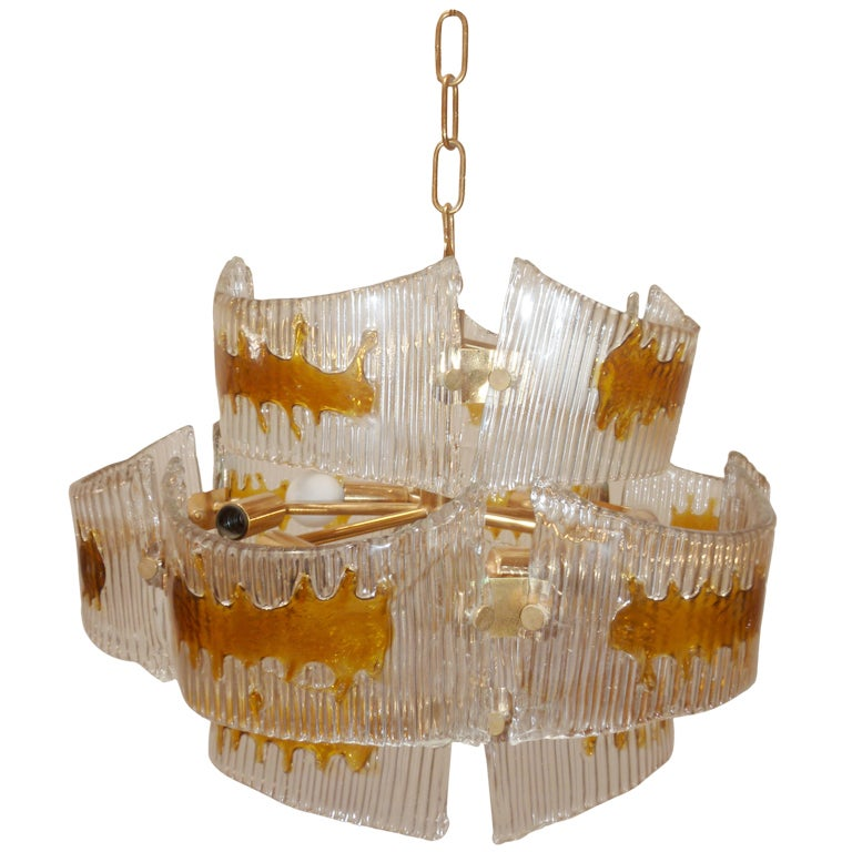 Mazzega Spazia Glass Chandelier