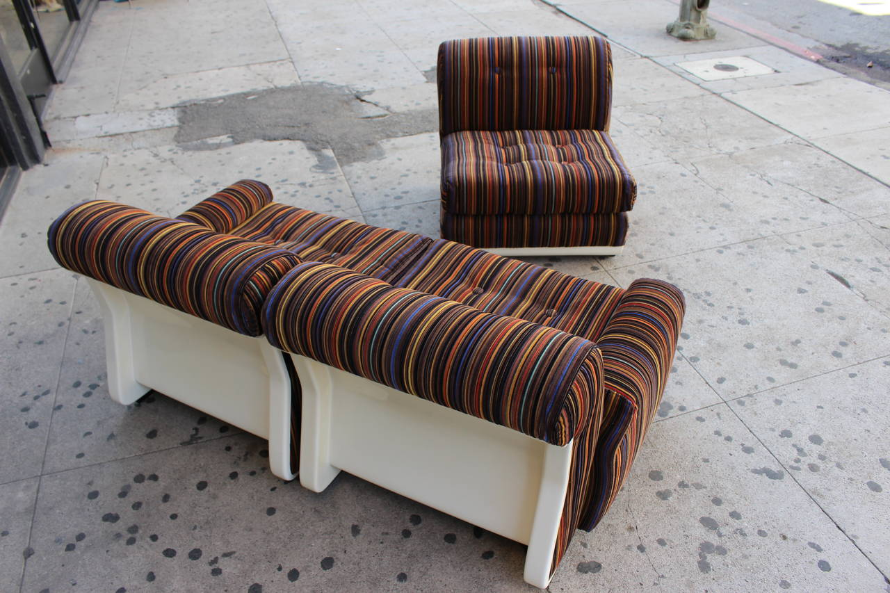Italian Three-Seat Sofa in the Style of Mario Bellini In Excellent Condition For Sale In Los Angeles, CA