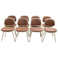 Set of Eight Herman Miller DCM Eames Dining Chairs