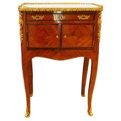Louis XV Ormolu-Mounted Tulipwood & Rosewood Cabinet