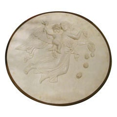 A Carved Marble Roundel In The Manner Of Bertel Thorvaldsen