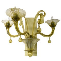 Murano Glass 3-lights Sconce