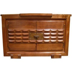 French Oak Sideboard or Cabinet with Brass Fitting