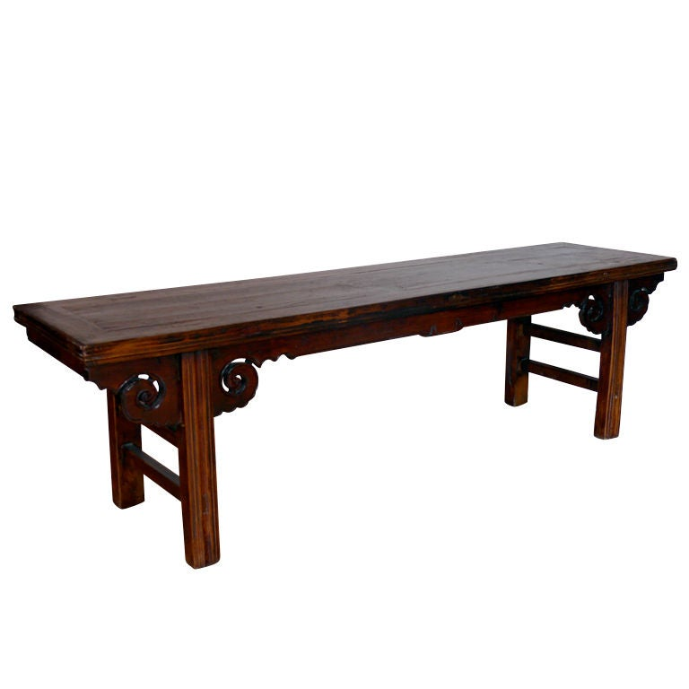 Long Chinese Spring Bench At 1stdibs