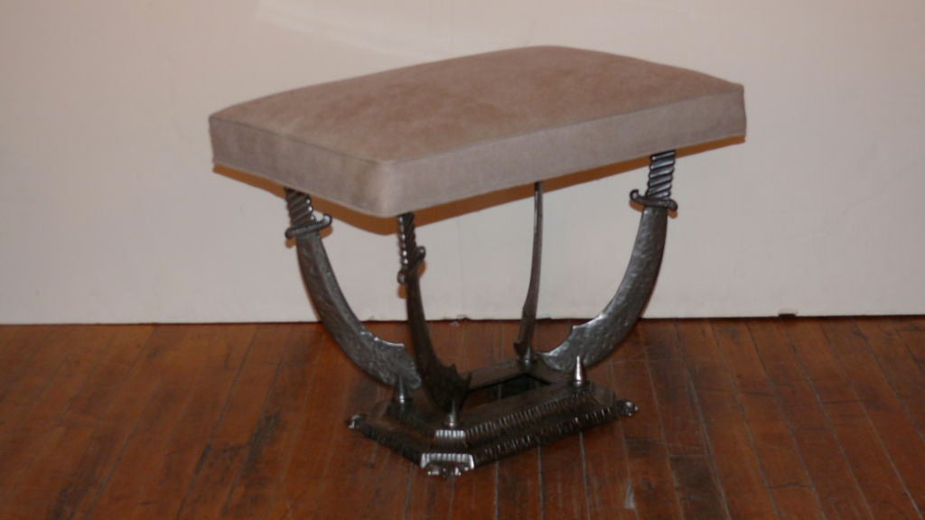 French Steel Sword Bench At 1stdibs