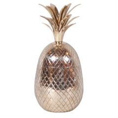 Large Brass Pineapple Covered Container