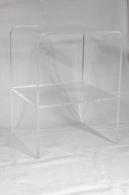 Amazing Lucite Waterfall Side/End Table 3