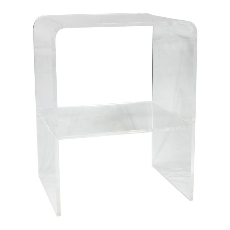 Lucite Waterfall Side End Table At 1stdibs