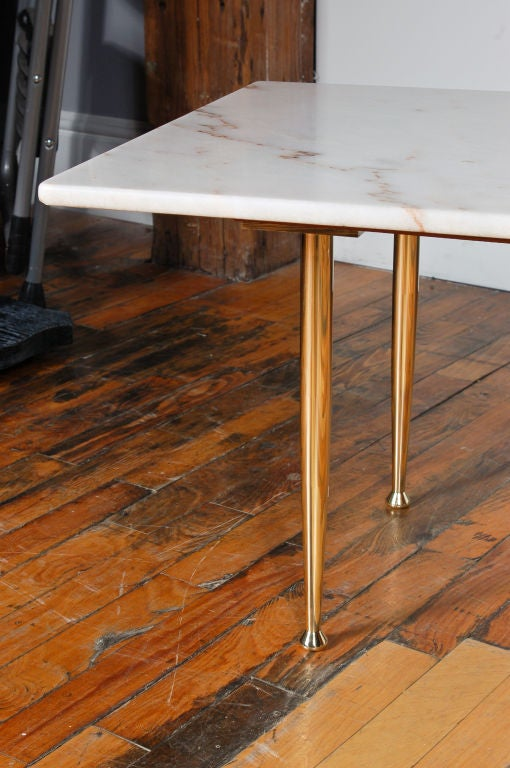 Calacatta Marble And Brass Coffee Table At 1stdibs