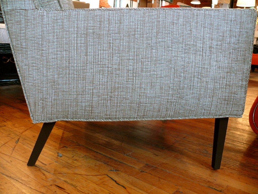 Mid Century Raised Back Lounge Chair 10