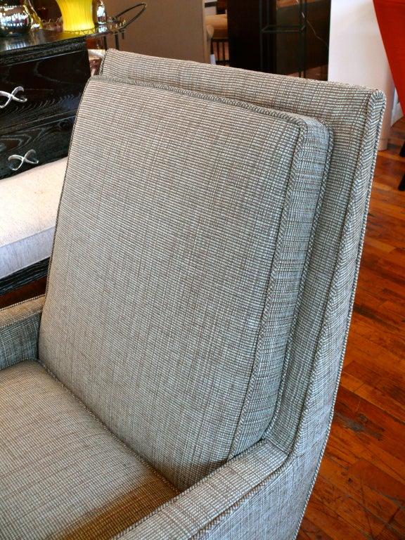 Mid Century Raised Back Lounge Chair 5