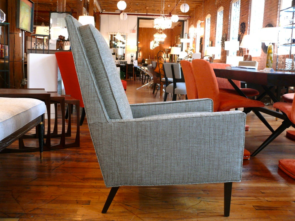 Mid Century Raised Back Lounge Chair 8