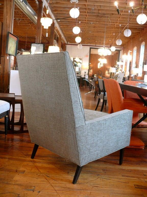 Mid Century Raised Back Lounge Chair 9