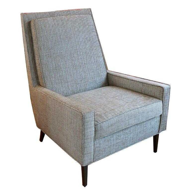 Mid Century Raised Back Lounge Chair 1