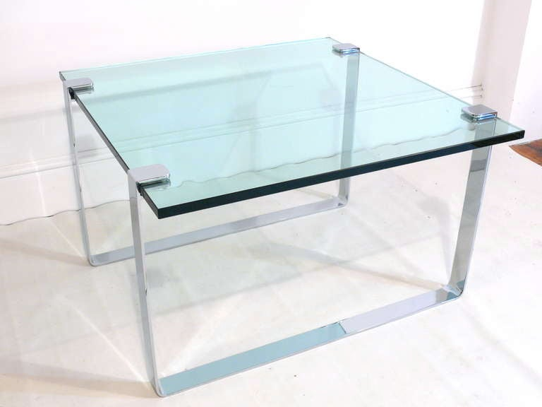1960s Chrome and Glass Coffee Table 3