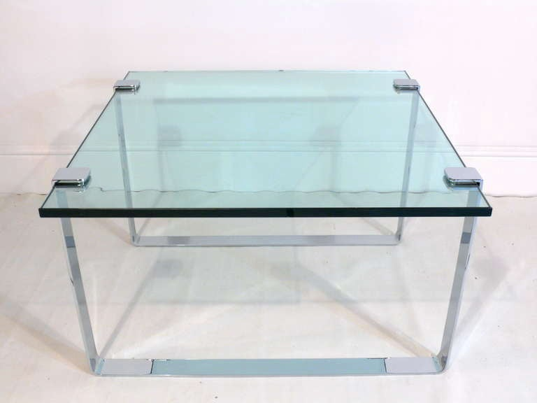 1960s Chrome and Glass Coffee Table 8