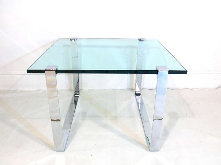 1960s Chrome and Glass Coffee Table 2