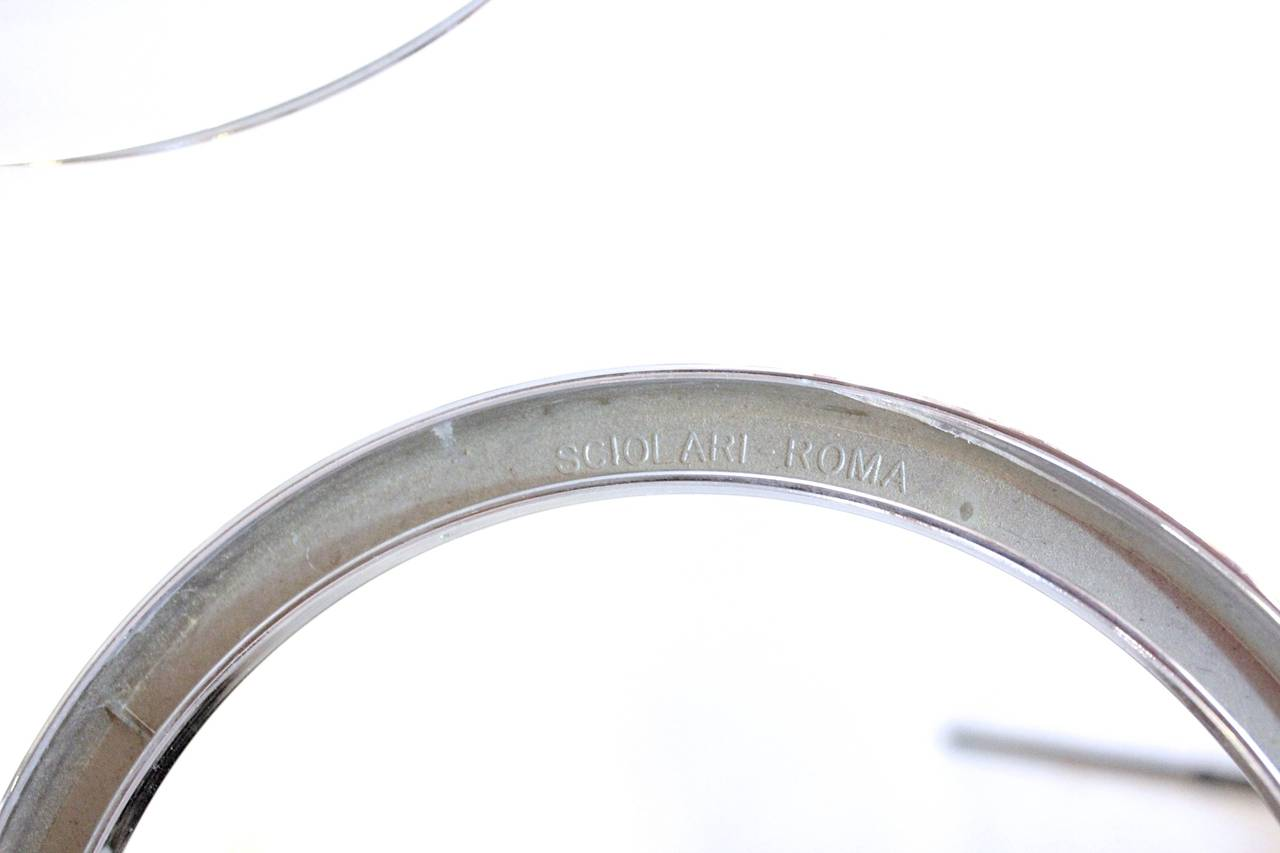 Sciolari Five-Arm Chrome Sputnik Chandelier In Good Condition For Sale In New York, NY