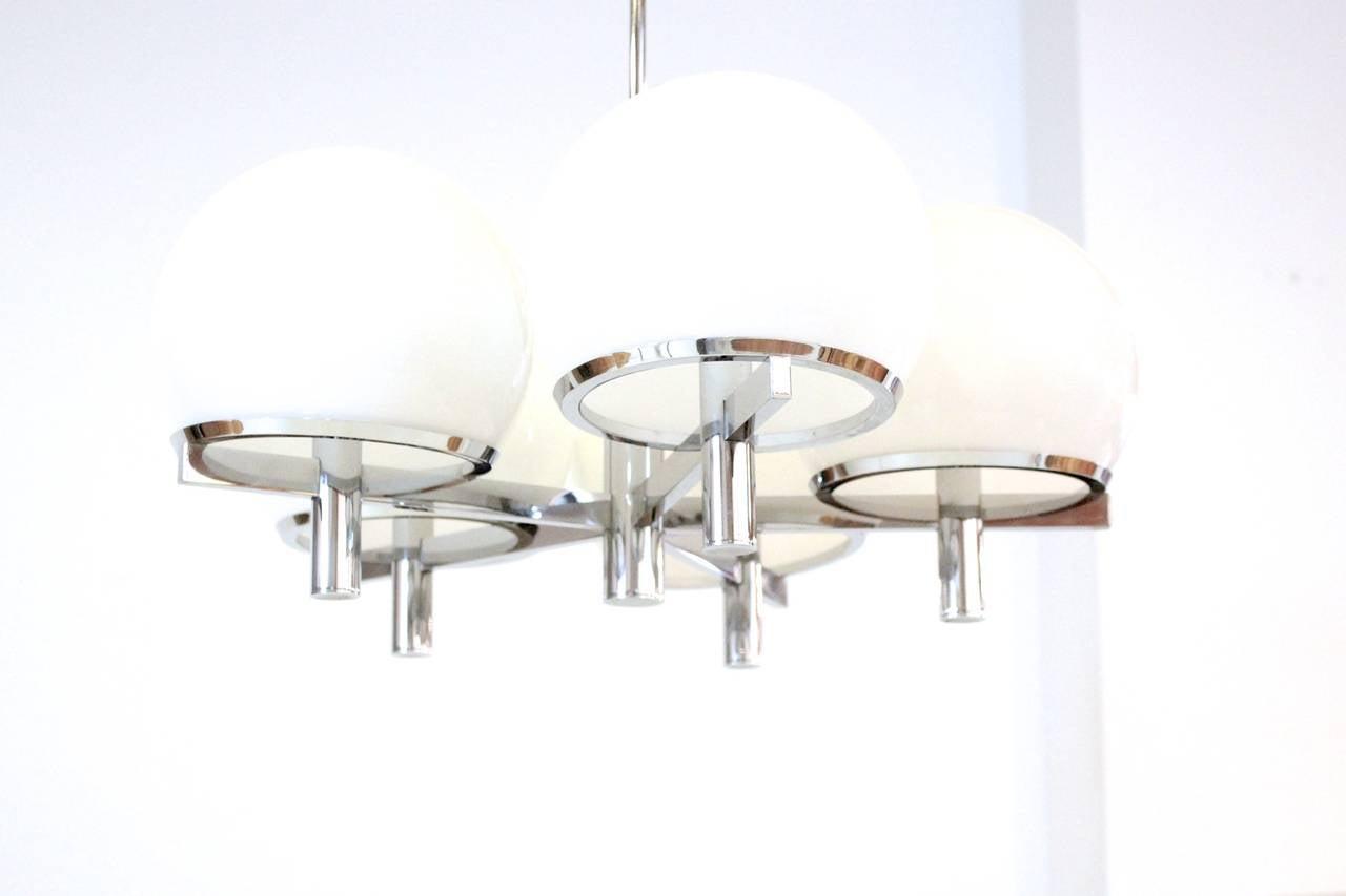 Sciolari Five-Arm Chrome Sputnik Chandelier For Sale 1