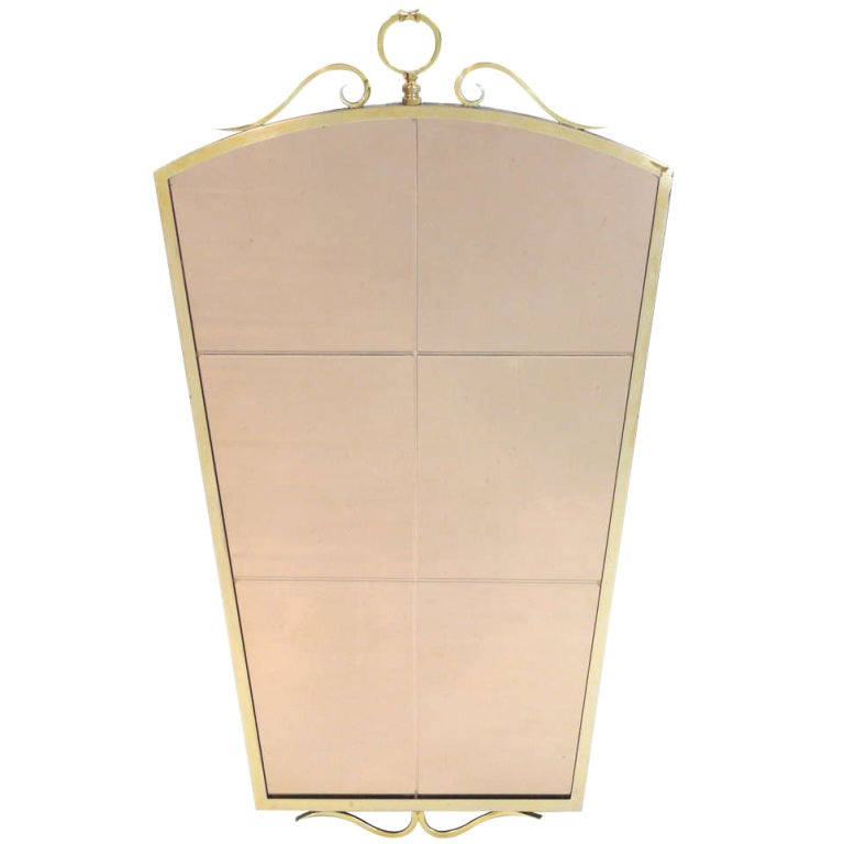 Fontana Arte Style Mirror For Sale