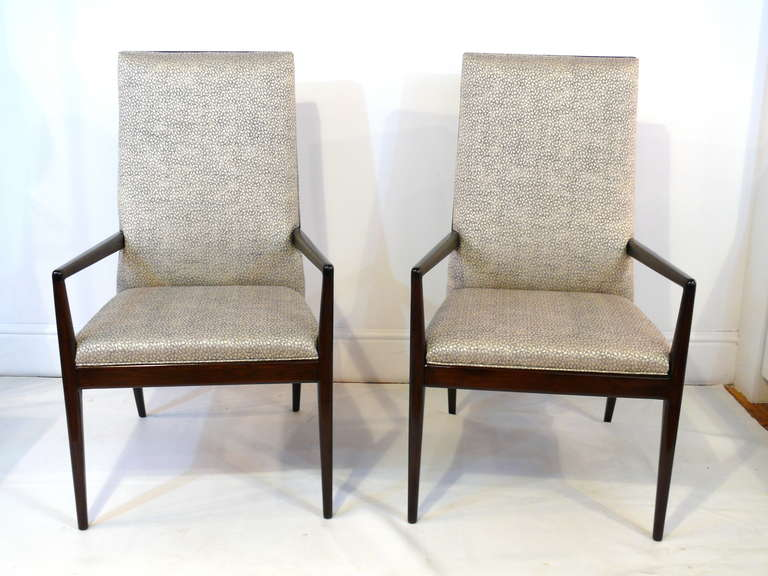 Pair of Highback Armchairs after T.H. Robsjohn-Gibbings 10